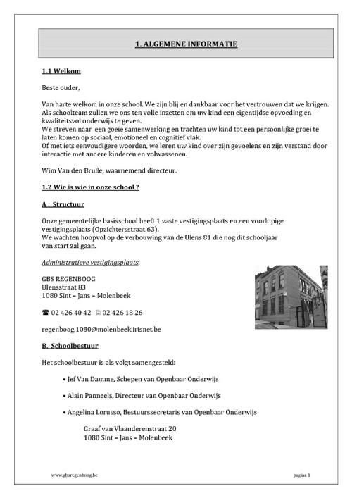 Schoolbrochure 2011 - 2012 GBS Regenboog