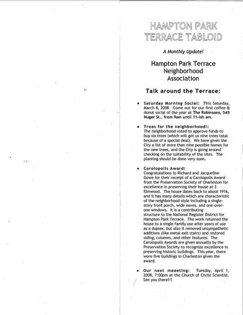 HPT Newsletter March 2008