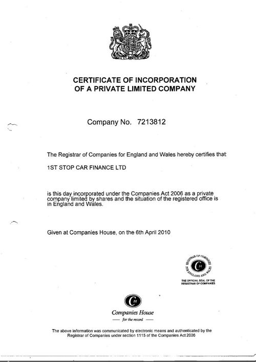 1st-stop-financial-services-certificate-of-incorporation