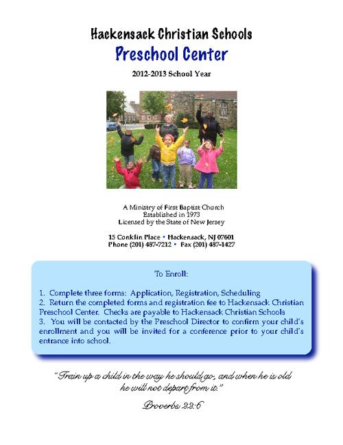 HCS Preschool 2012-2013