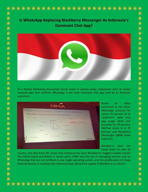 Is WhatsApp Replacing Blackberry Messenger As Indonesia