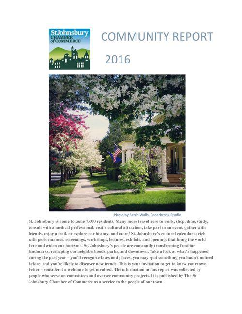 St. Johnsbury 2016 Community Report
