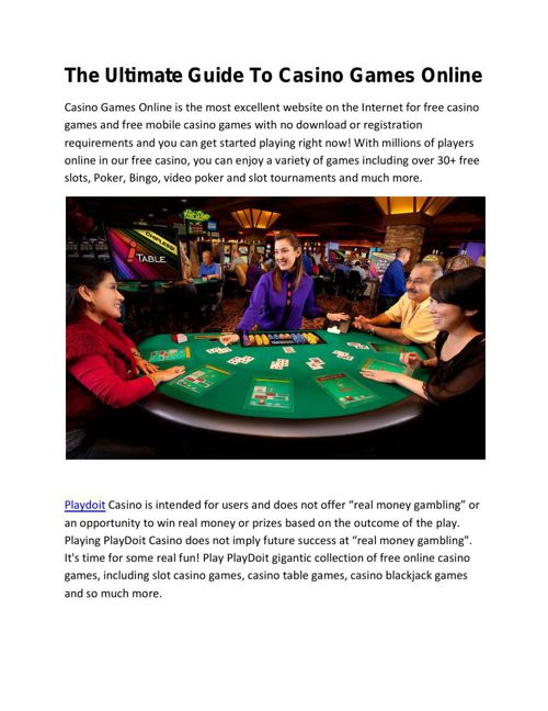 The Ultimate Guide To Casino Games Online