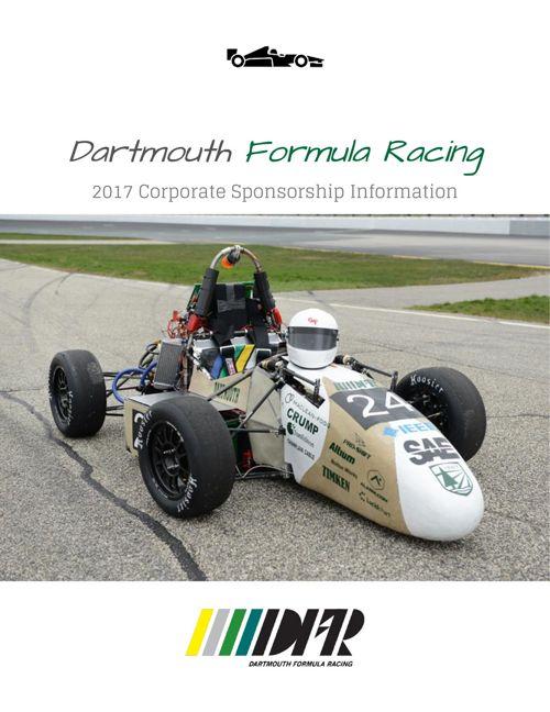 2017 Dartmouth Formula Racing Sponsorship Packet