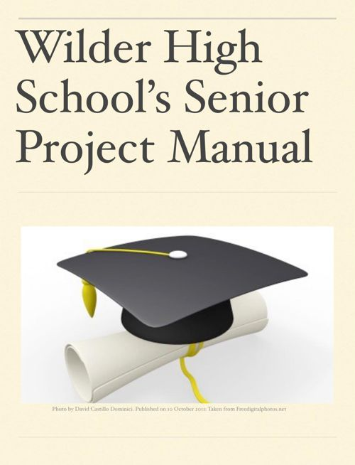 Wilder Senior Project Manual