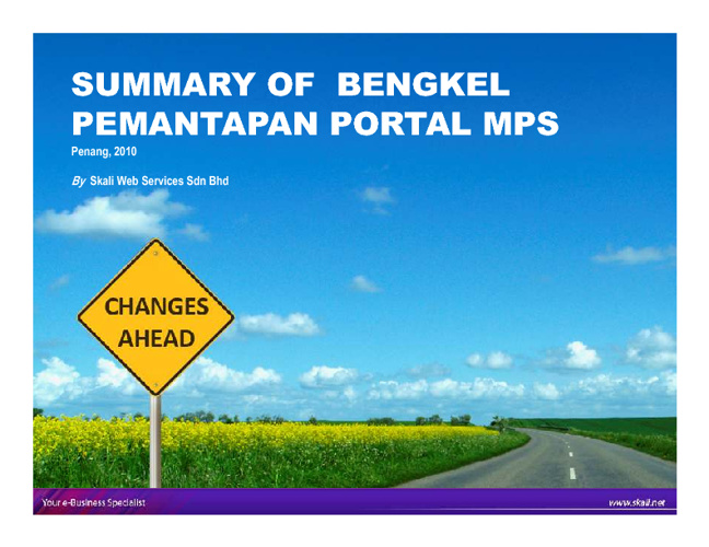 MDEC Assessment 2011-Summary of Bengkel Pemantapan Portal MPS 20