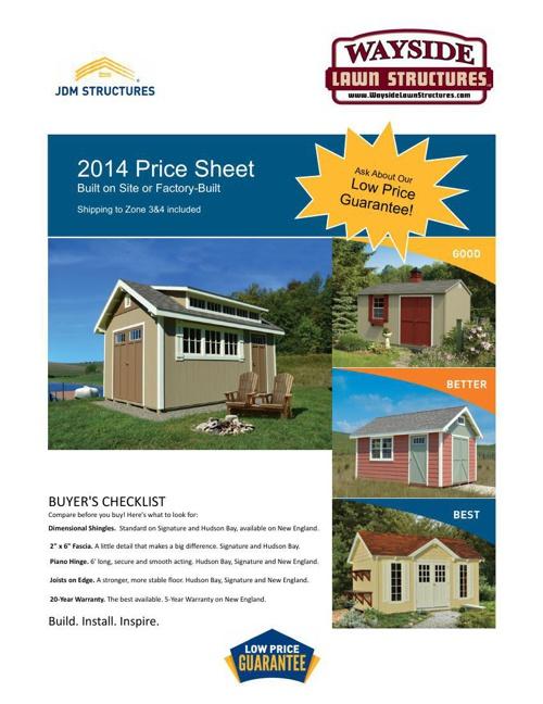 2014 JDM Price Sheet