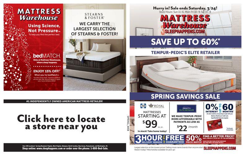 Mattress Warehouse Spring Savings Sale