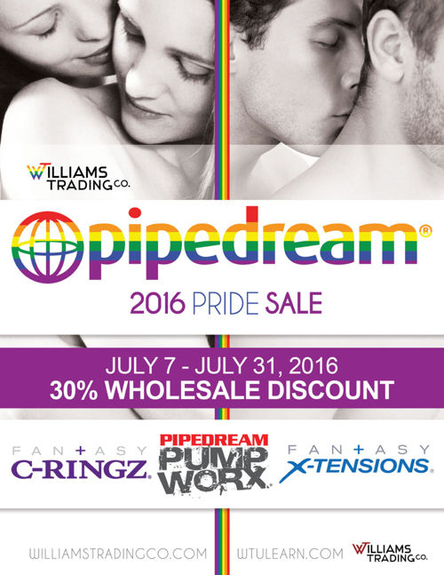 Pipedream 2016 Pride Sale