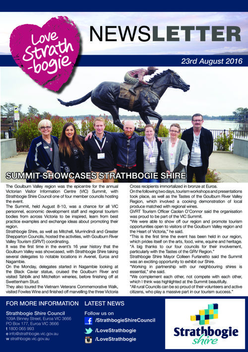 Love Strathbogie Newsletter 23082016