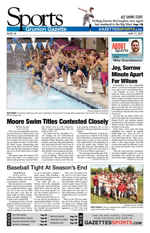 Gazette Sports  |  May 11, 2017