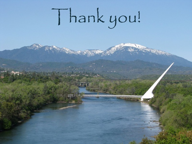 Thank you - Redding Convention and Visitors Bureau