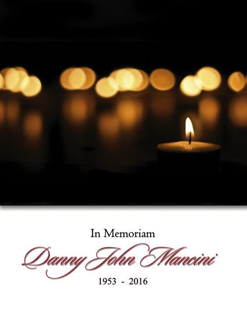 Memorial Card for Danny John Mancini