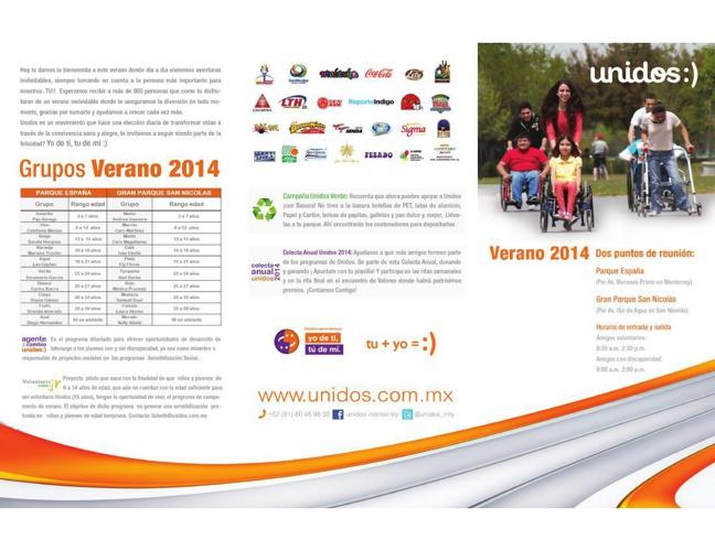 Calendario de actividades #VeranoUnidosMty