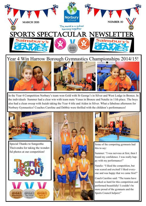 Sports Newsletter Number 10