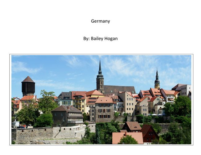 Bailey H:  Germany