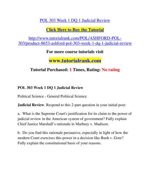 POL 303 Course Success Begins / tutorialrank.com