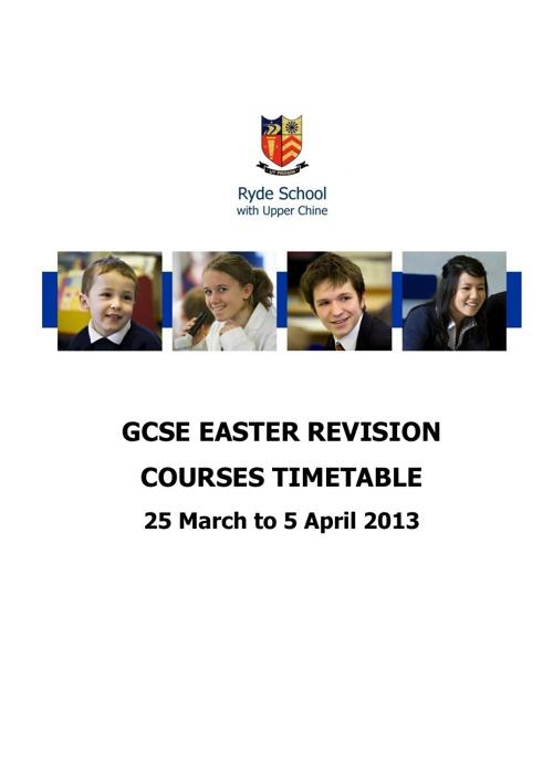 GCSE Timetable