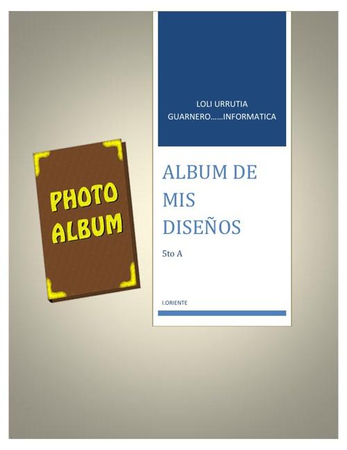 revista de mis diseños: Loli Urrutia