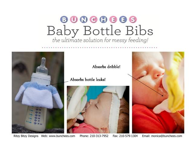 BUNCHEES Baby Bottle Bibs