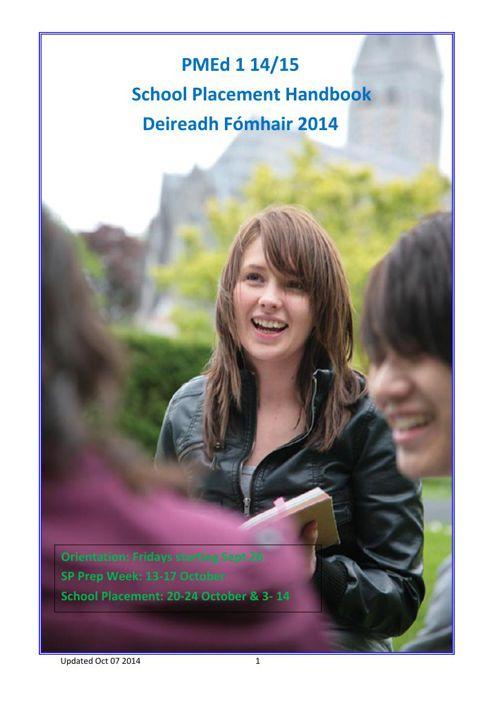 PMed 1 Handbook Oct 14
