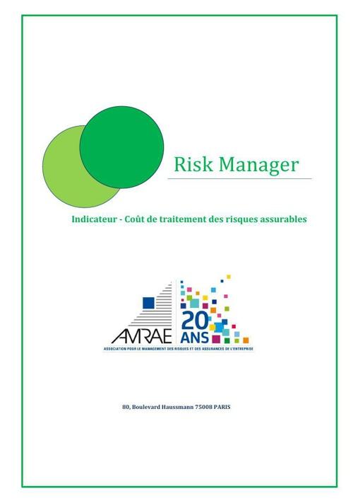 AMRAE - Indicateur - Coût de traitement des risques assurables -