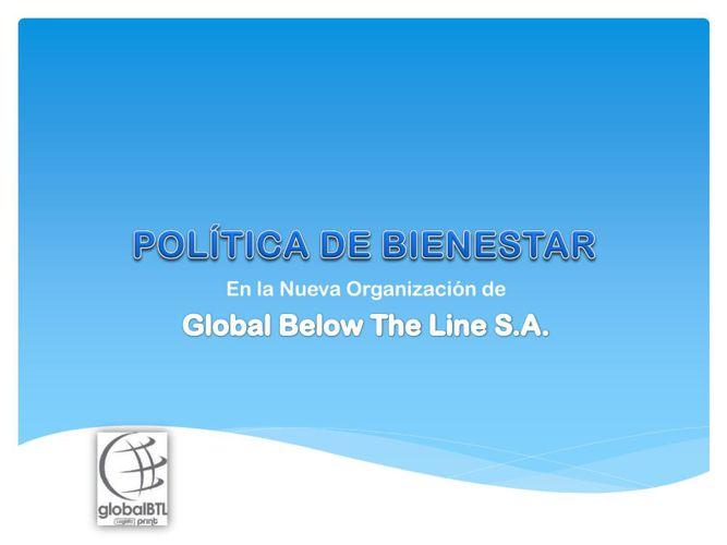 GLOBALBTL - POLÍTICA DE BIENESTAR