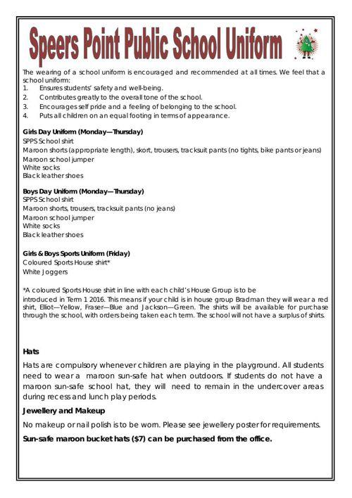 Full uniform info sheet Dec 2015