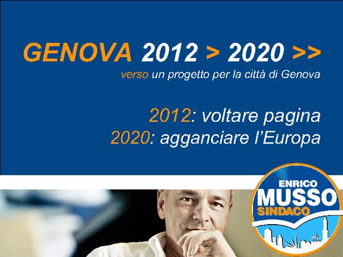 Lista civica Enrico Musso Sindaco 2012 - Programma Beta 1