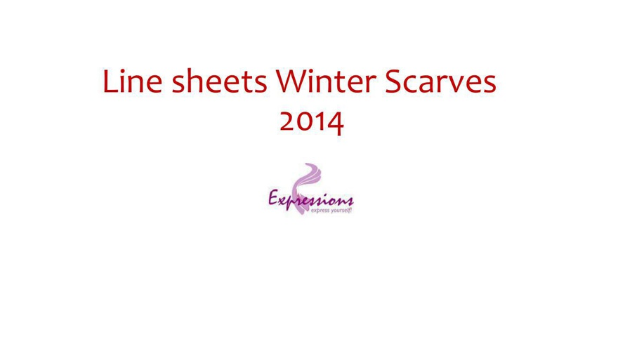 Line Sheet Winter Scarves