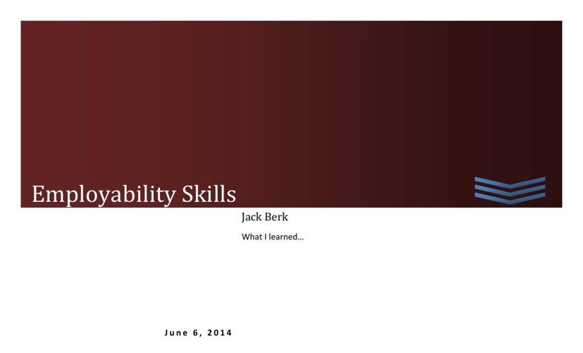 Employablity Skills
