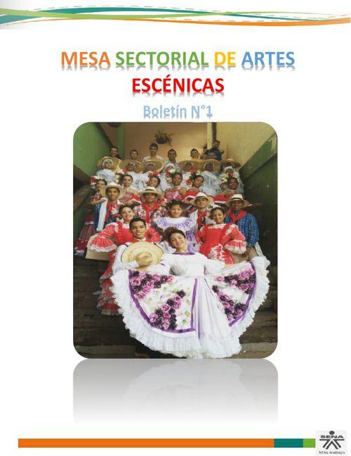Boletin Nº 1 Mesa Artes Escenicas 2015.....