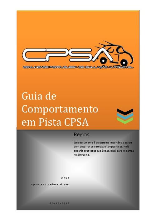 Guia comportamento em pista CPSA