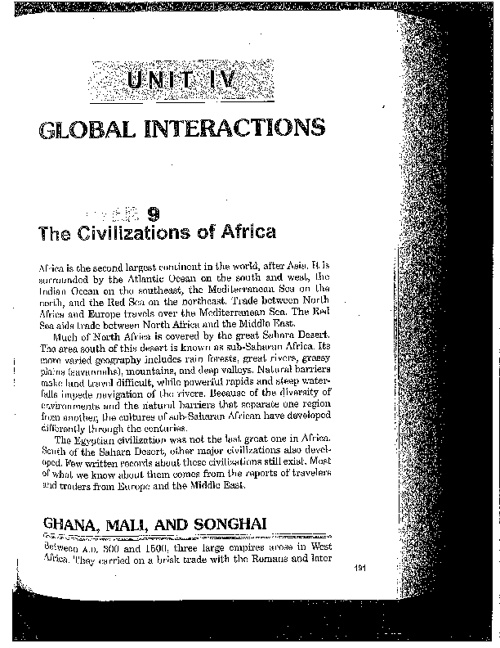 The Civilizations of Africa (Chapter 8)