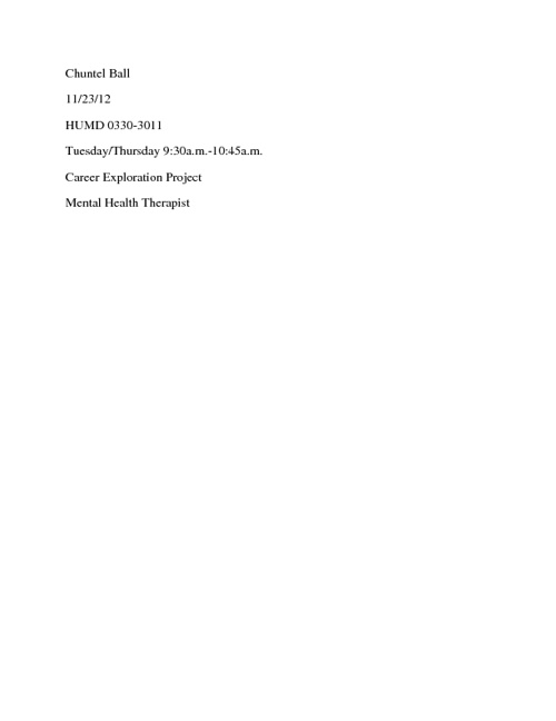 Chuntel Ball- Career Project