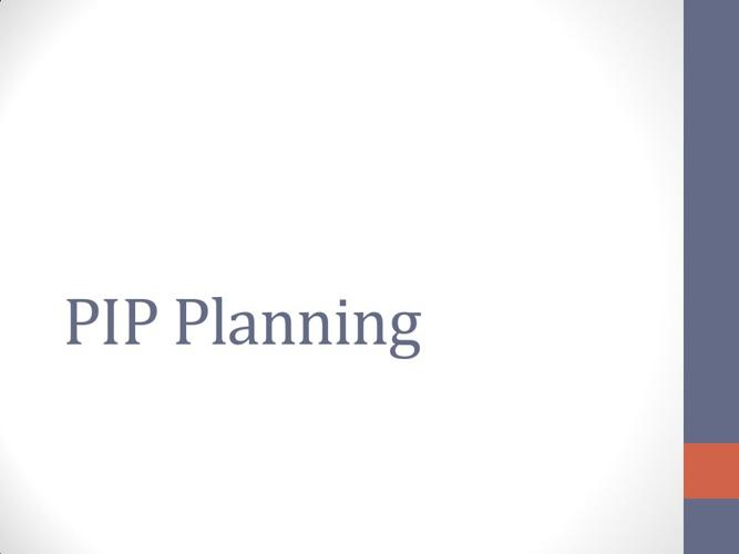 PIP Tasks