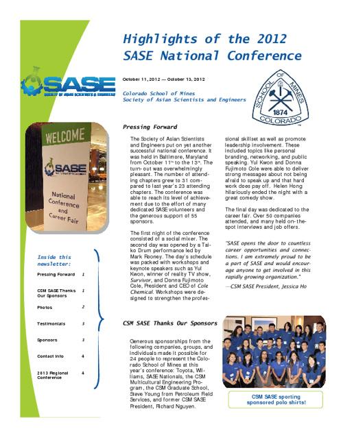 2012 NC Newsletter