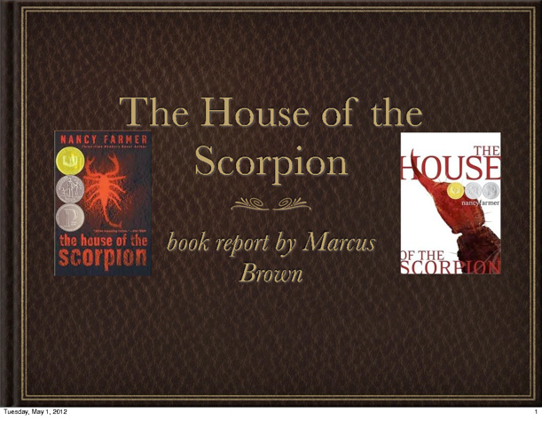 house of the scorpion lit circle book report