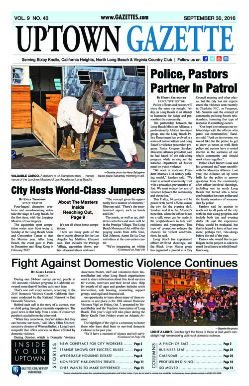 Uptown Gazette  |  September 30, 2016