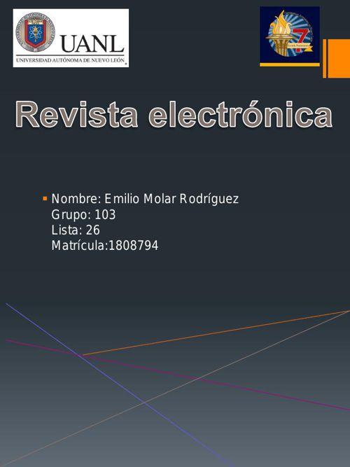 Quimica Revista Electronica