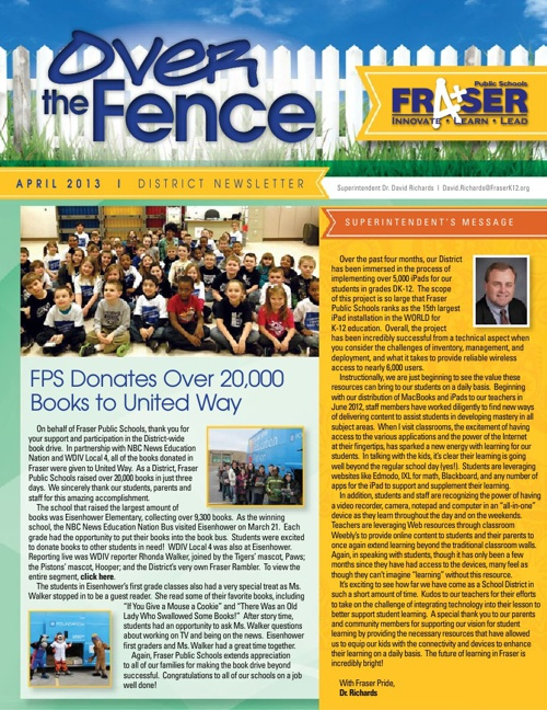 April Over the Fence Newsletter