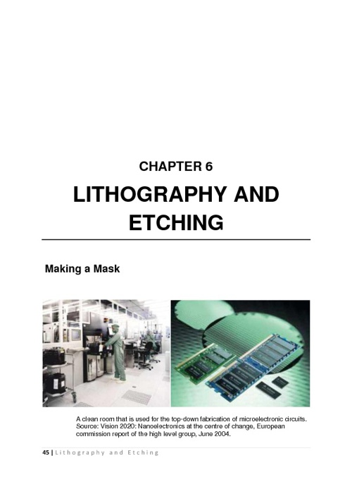 litography and etching