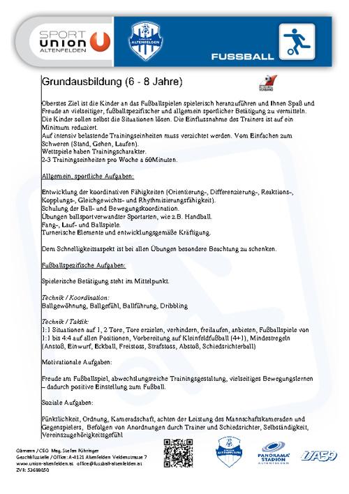 Konzept | Nachwuchs (6 - 8 Jahre)