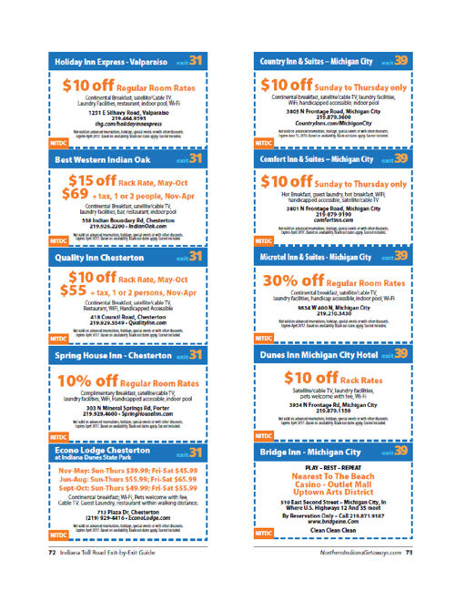 All Coupons 2016 Indiana Toll Road