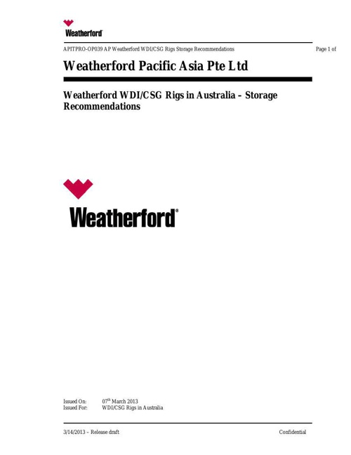 WDI_CSG Storage Recommendations