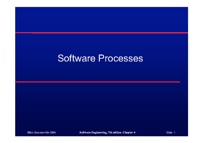 IED24303 Chapter 2 Software Processes