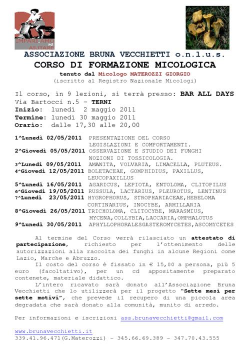 Corso di micologia