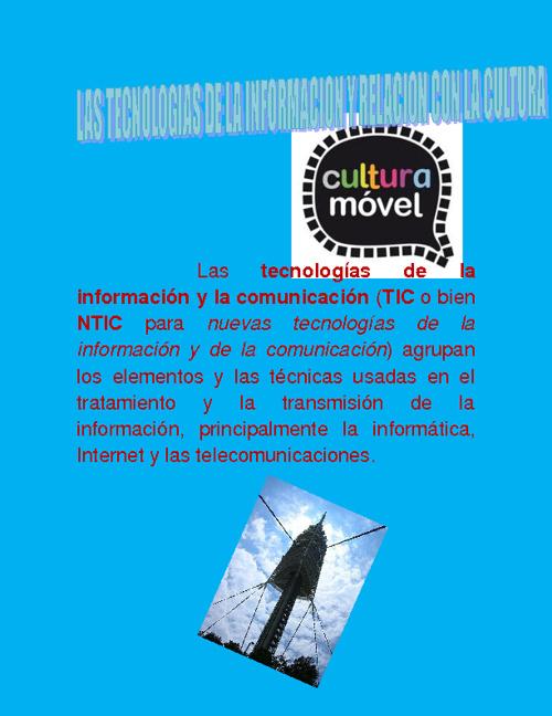 las tecnoligias de la informacion  y la cultura
