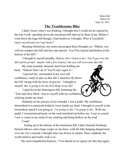 The Troublesome Bike