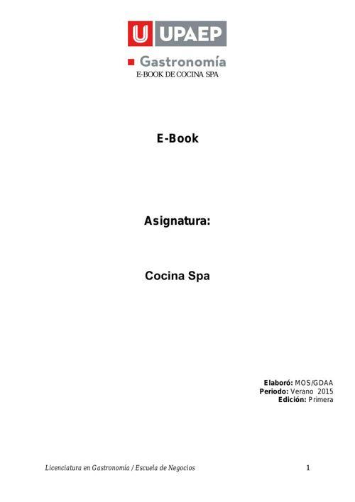 E-Book Cocina Spa